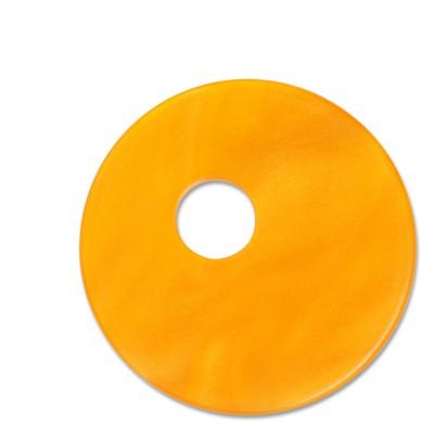 Scheibe Aquarell assym. Acryl 33mm orange