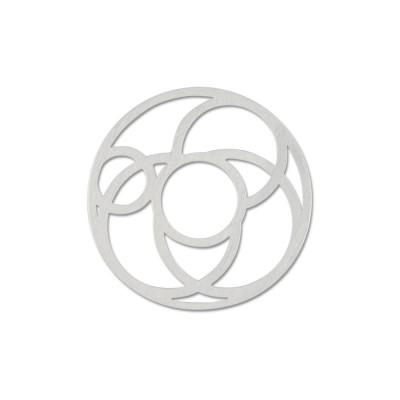 Scheibe Cut Motiv Kreise 22mm ohne Acrylscheibe