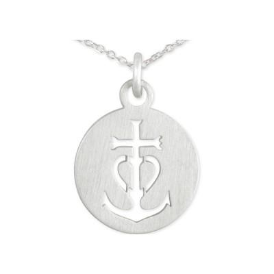 Anhänger Anker Herz Kreuz 11mm incl. Silberkette