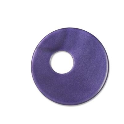 Scheibe Aquarell assym. Acryl 25mm lila