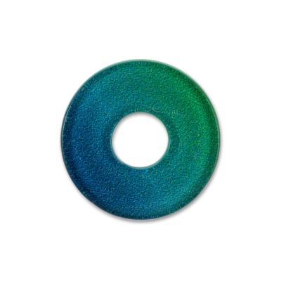 Acryl Scheibe 22mm LEVEL4 Blautöne/Verlauf