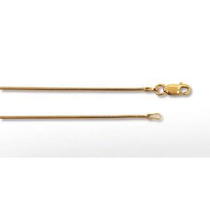 Schlangenkette 1mm 45cm, goldplattiert