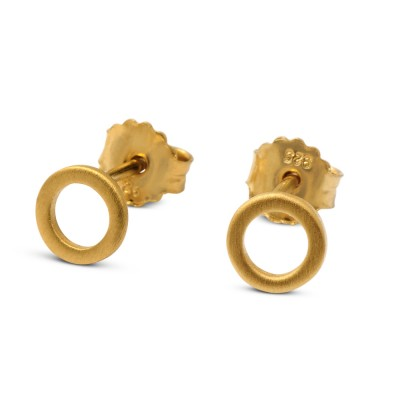HIP Ohrstecker Kreis 7mm goldplattiert