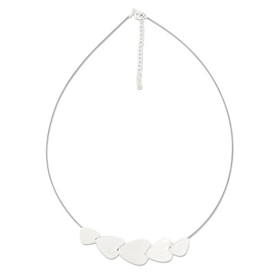 LEVEL4 Light-Collier Oval Silber