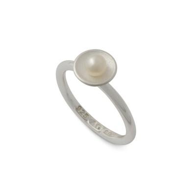 Perlzeit Ring Silber 8,5mm Perle 4mm