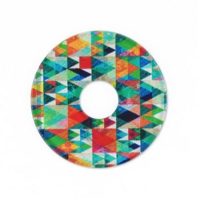Acryl Scheibe 28mm bunte Dreiecke