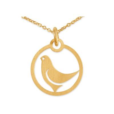 Anhänger Taube inkl Silberkette goldplattiert