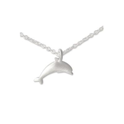 Anhänger Delphin mit Silberkette