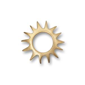 Scheibe Sun,mini 15mm goldplattiert