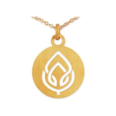 Anhänger Lotusblüte inkl. Silberkette goldplattiert