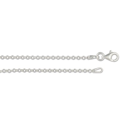 Kette Erbskette Silber 60cm 2.1 mm rhodiniert