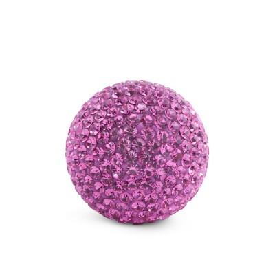 Kristall Klangkugel, 17mm, pink