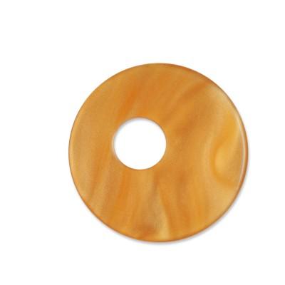 Scheibe Aquarell assym. Acryl 25mm gold