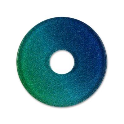 Acryl Scheibe 28mm LEVEL4 Blautöne/Verlauf