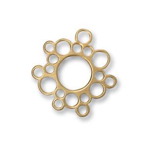 Scheibe Bubble, 17 mm, goldplattiert