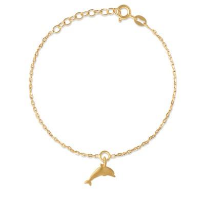 Armkette Delphin mit goldplattiert
