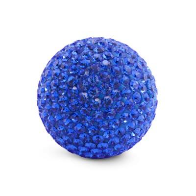 Kristall Klangkugel 20 mm, blau