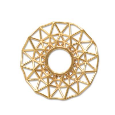 Scheibe Triangel filigran 25mm goldplattiert