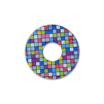 Acryl Scheibe 22mm Pixels blue