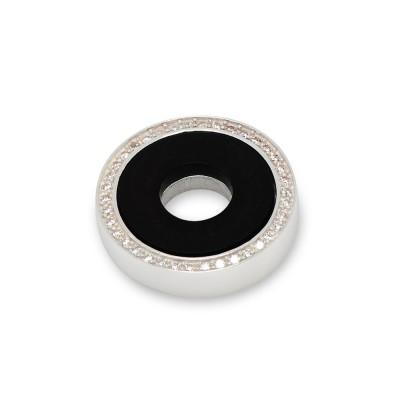 Scheibe Round 21 mm, Acryl mit Zirkonia