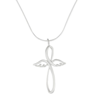 Kette Kreuz mit Flügeln