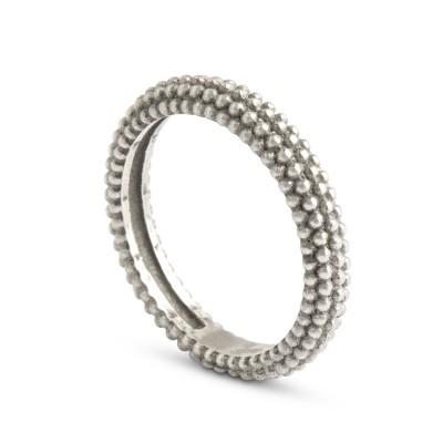 GlamRock Ring - 4mm - rhodiniert