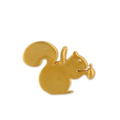 Anhänger Eichörnchen mit Nuss goldpl. ohne Kette