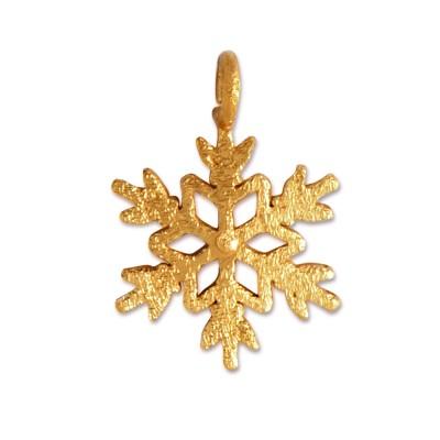 Anhänger Snowflake goldplattiert