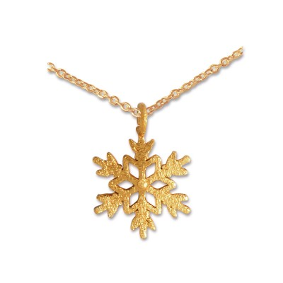 Anhänger Snowflake inkl. Silberkette goldpl.