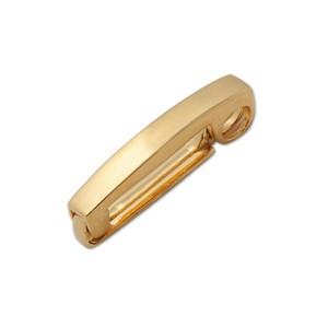 Klappverschluss für eine Scheibe goldplattiert