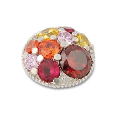 Top Crystal 13 mm, Zirkonia rot