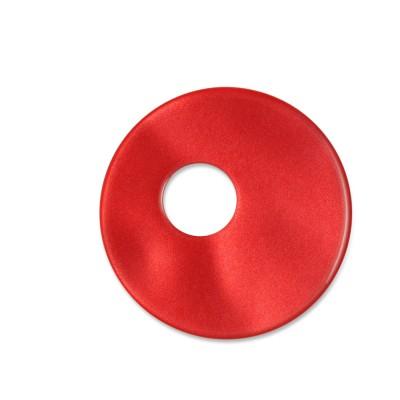 Scheibe Aquarell assym. Acryl 25mm rot