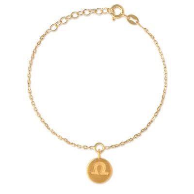 Armkette Sternzeichen Waage, goldplattiert