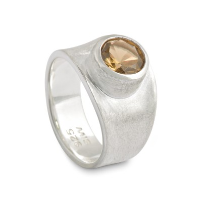 PUR Ring mit 8mm Citrin