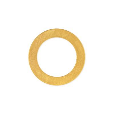 Anhänger Kreise 10mm plattiert