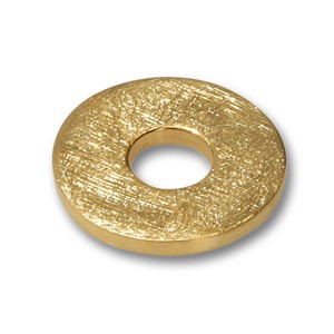 Scheibe Rondell goldplattiert, 21 mm