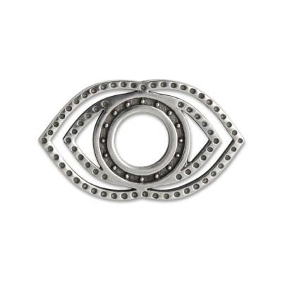 Scheibe Chakra Stirn, 28x16 mm, geschwärzt