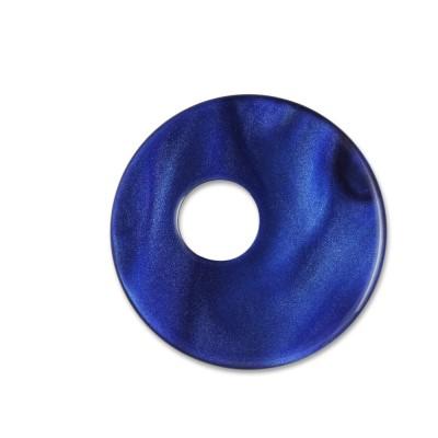 Scheibe Aquarell assym. acryl 25mm blau