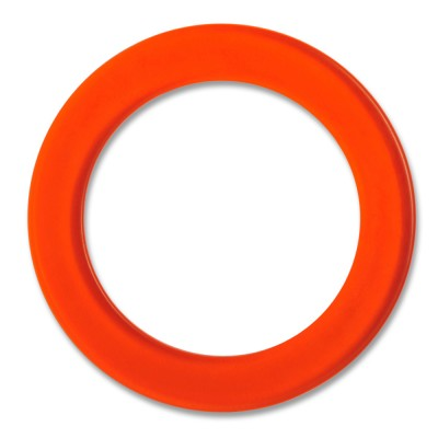 LOOP Außenring Acryl transparent 29 mm, orange