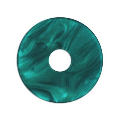 Scheibe Aquarell acryl 28mm petrol