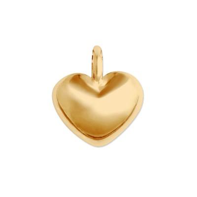 Mini Anhänger Herz matt goldplatt 9mm ohne Kette