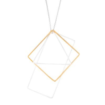 Kette Rechteck mit Dreieck und Quadrat plattiert