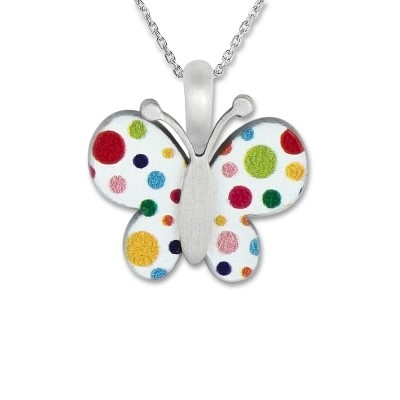 LITTLE FRIENDS; Schmetterling mit Silberkette