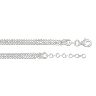 Halskette 3 Strang Bead 45cm
