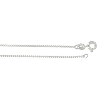 Silber Kugelkette 1.0 mm 42cm
