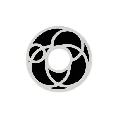 Scheibe Cut Motiv Kreise 22mm inkl. Acrylscheibe