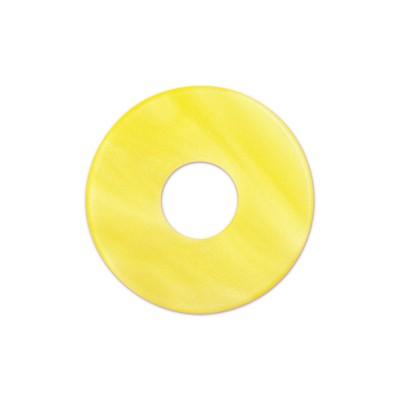 Scheibe Aquarell acryl 22mm gelb