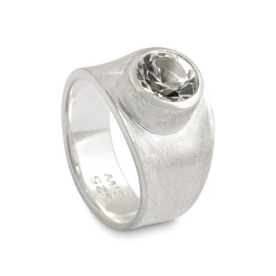 PUR Ring, Topas weiss 8 mm