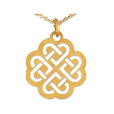 Anhänger keltisches Herz inkl. Kette goldplattiert