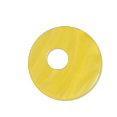 Scheibe Aquarell assym. Acryl 25mm gelb
